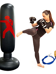 cheap -Fitness Punching Bag Heavy Punching Bag Inflatable Punching Tower Bag Freestanding Children Fitness Play Adults De-Stress Boxing Target Bag 5.25ft