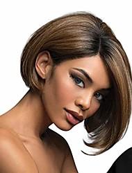 cheap -vacally brazilian virgin charming wig hair full short bob wigs fashion brown wig for women cosplay prop front wigs 28cm