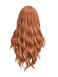 cheap -amazon new product european and american wigs for ladies orange long curly hair african chemical fiber mechanism wig headgear manufacturers wholesale