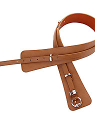 cheap -Women's Wide Belt Work Outdoor Brown Pink Genuine Leather Belt Solid Color / Khaki