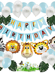 cheap -Happy Birthday Balloon Banner,Birthday Decorations Boys And Girls Birthday Anniversary Party Supplies Party Decorations 20 Pack 13'' Balloon Happy Birthday Banner,Kids Forest Animal Balloon Decoration