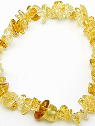 cheap -mindfulness gems natural healing stones crystal chips bracelet for women - premium chakra crystals bead bracelet- stretchy gemstones (citrine)