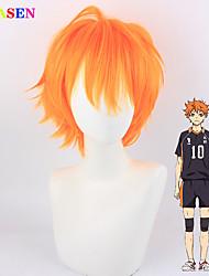 preiswerte -japanische Anime Volleyball Teenager kleine Volleyball Hyuga Xiangyang Orange Cosplay Perücke Hochtemperatur Seide Cos Perücke