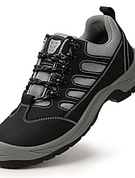 cheap -Safety Shoes Steel Toe Cap Hiking Boots For Mens Sporty Office & Career Mesh Breathable Non-slipping Wear Proof Booties Ankle Boots Summer Fall Spring