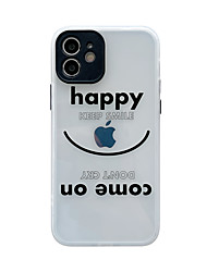 cheap -Phone Case For Apple Back Cover iPhone 12 Pro Max 11 SE 2020 X XR XS Max 8 7 Shockproof Dustproof Translucent Playing with Apple Logo Word / Phrase TPU