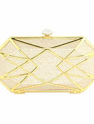 cheap -caiyue metal hollow evening bag, geometric shape hard box banquet party dress bag, cheongsam bag a17