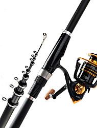 cheap -Fishing Rod and Reel Combo Telescopic Rod / Carbon Fiber Portable Lightweight Sea Fishing Freshwater Fishing