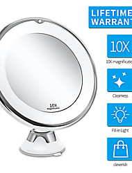 cheap -10X Magnifying Makeup Vanity Mirror with Lights, LED Lighted Portable Hand Cosmetic Magnification Light up Mirrors for Home Tabletop Bathroom Shower Travel