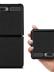 cheap -Phone Case For Samsung Galaxy Back Cover Galaxy Z Fold 2 Shockproof Dustproof Solid Colored Genuine Leather