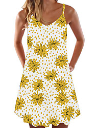 cheap -europe and the united states 2020 hot sale summer new women's midi skirt daisy dress digital printing sweet dress