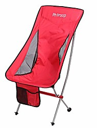 cheap -phiroop camping folding chair compact lightweight for backpacking ultralight aluminum frame collapsible portable low/high back including carry bag(red_high)