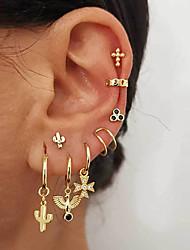 cheap -Women's AAA Cubic Zirconia Ear Cuff Ball Earrings Jacket Earrings Geometrical Music Notes Stylish Artistic Punk European Trendy Gold Plated Earrings Jewelry Golden / Yellow / Gold For Christmas Gift