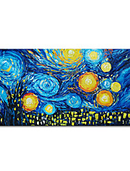 cheap -Oil Painting Handmade Hand Painted Wall Art Mintura Knife Starry Sky Home Decoration Decor Rolled Canvas No Frame Unstretched