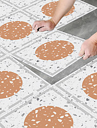 cheap -8pcs Creative Kitchen Bathroom Living Room Floor Stickers Non-slip Waterproof And Wear-resistant Daylight Yellow Terrazzo Floor Stickers
