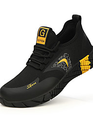 cheap -Unisex Trainers Athletic Shoes Sneakers Sporty Classic Chinoiserie Office & Career Safety Shoes Tissage Volant Breathable Non-slipping Wear Proof Booties / Ankle Boots Black / Red Black / Yellow Fall