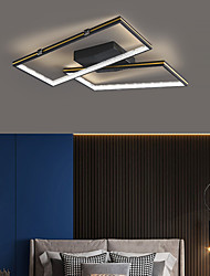 cheap -LED Ceiling Light Modern Square Black Gold Includes Dimmable Version 45cm 55cm Geometric Shapes Flush Mount Lights Aluminum Artistic Style Modern Style Stylish Painted Finishes 220-240V