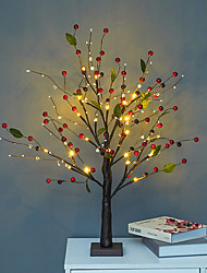 cheap -Indoor Decor Light LED Desktop Bonsai Tree Light Battery Operated Artificial Light Red Fruit Tree Lamp Christmas Valentine's Day Living Room Bedroom Home Decoration Table Lamp