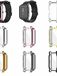 cheap -Smart watch Case screen protector case compatible with amazfit gts 2 mini/bip u pro smartwatch accessories tencloud covers scratched resistant full protective cover for gts 2 mini (7 colors)