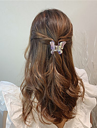 cheap -hair clip female korean ins back head color butterfly catch clip super fairy girl hair clip sweet hair catching girl