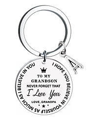 cheap -birthday graduation gifts keychain from dad mom to my son daughter inspirational gift never forget that i love you forever