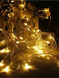 cheap -LED String Lights LED Fairy Lights Christmas Wedding Bedroom Decoration Warm White Multi Color 1.5m 3m 10m AA Batteries Powered