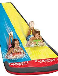 cheap -Lawn Water Slide Children Garden Racing Double Backyard Toys Outdoor