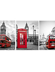 cheap -3 Panels Wall Art Canvas Prints Painting Artwork Picture Landscape London Big Ben Elizabeth Tower Home Decoration Décor Stretched Frame Ready to Hang