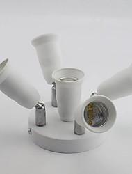 cheap -1 To 5 E27 To E27 Socket Splitter Adjustable Converters Lamp Base Holder For E27 LED Bulb