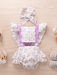 cheap -Baby Girls' Basic Floral Print Sleeveless Romper Blushing Pink