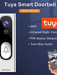 cheap -tuya smart wireless wifi video doorbell hd 1080p surveillance intercom doorbell tuya doorbell