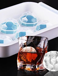 cheap -Ice Mould Whiskey Hockey 6-cell Food Grade Ice Box Silicone Ice Cube Maker Mold Ice Tray Angular Shape
