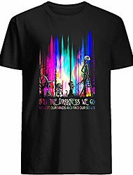 cheap -jack #skellington lock #shock and #barrel into the darkness we go to lose our minds and find our souls colorful gift graphic unisex t-shirt (black-3xl)
