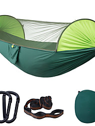 cheap -Camping Hammock with Pop Up Mosquito Net Outdoor Portable Anti-Mosquito Ultra Light (UL) Foldable Breathable Parachute Nylon with Carabiners and Tree Straps for 2 person Camping / Hiking Hunting