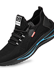 cheap -Unisex Trainers Athletic Shoes Sneakers Sporty Classic Chinoiserie Office & Career Safety Shoes Tissage Volant Breathable Non-slipping Wear Proof Booties / Ankle Boots Black / Blue Fall Spring