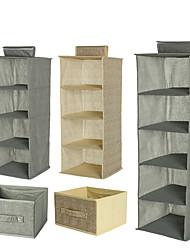 cheap -Fabric Folding Storage Hanging Bag Non-woven Bedroom Storage Multi-compartment Wardrobe Multi-function Bag 25x25x19.5cm