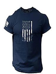 cheap -rogue style america flag t-shirt - usa patriotic shirt for man (navy blue, xl)