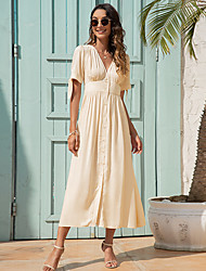 cheap -2021 amazon summer new product european and american cross-border fashion v-neck high-waisted cuff strap dress a1060