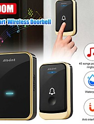 cheap -Wireless Waterproof Doorbell 200m Range AU Plug Home Intelligent Door Bell Chime 45 Songs Polyphonic Ringtones 4 Gear Adjustment