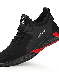 cheap -Safety Sneakers Steel Toe Cap Work Boots For Mens Sporty Office & Career Mesh Breathable Non-slipping Wear Proof Booties Ankle Boots Summer Fall Spring
