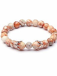 cheap -richladys 8mm bracelet for women and men red mesh natural stone copper inlay zircon crown beads bracelet energy buddha beads stone crystal bracelet for women