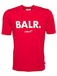 cheap -balr. men's classic brand shirt red - xl