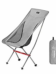 cheap -naturehike ultralight folding camping chair high back lightweight portable compact heavy duty 300lbs for adults, backpacking, hiking, outdoor camp, travel, beach, picnic, festival - gray