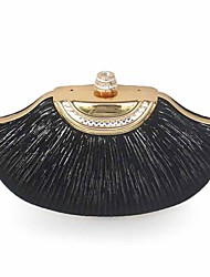 cheap -Women's Bags Silk Top Handle Bag Glitter Solid Colored Party Date Evening Bag Black Silver
