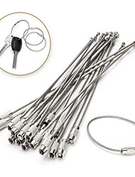 cheap -Stainless Steel Wire Keychain Cable Rope Key Holder Keyring Key Chain Rings Women Men Jewelry Key Holder Gifts