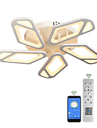 cheap -LED Ceiling Light Modern White 3/5 Heads Personalized Heteromorphism Style APP Control with Remote Control Acrylic Ceiling Panel Lamp Minimalist Living Room AC220V AC110V