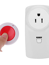 cheap -RF wireless remote control socket/US socket/ AC110V 220V 1CH relay /use for LED lamp / fans /lights 433mhz
