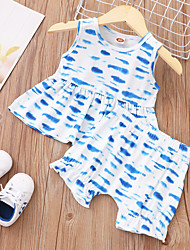 cheap -Baby Boys' Basic Polka Dot Sleeveless Short Clothing Set Blue