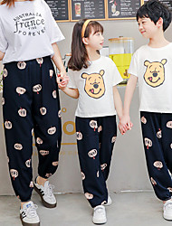 cheap -Cute Animal Print Summer Anti-mosquito Sunscreen Loose Pants for Mommy and Me