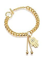 cheap -Women's Bracelet Geometrical Heart Stylish Simple Alloy Bracelet Jewelry Gold For Daily Promise