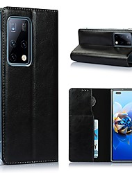 cheap -Phone Case For Huawei Flip Huawei Mate X2 Shockproof Dustproof Solid Colored Genuine Leather